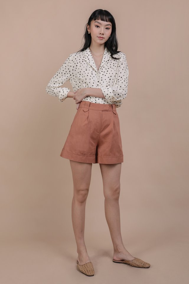 Luca Cuffed Shorts (Terracotta)