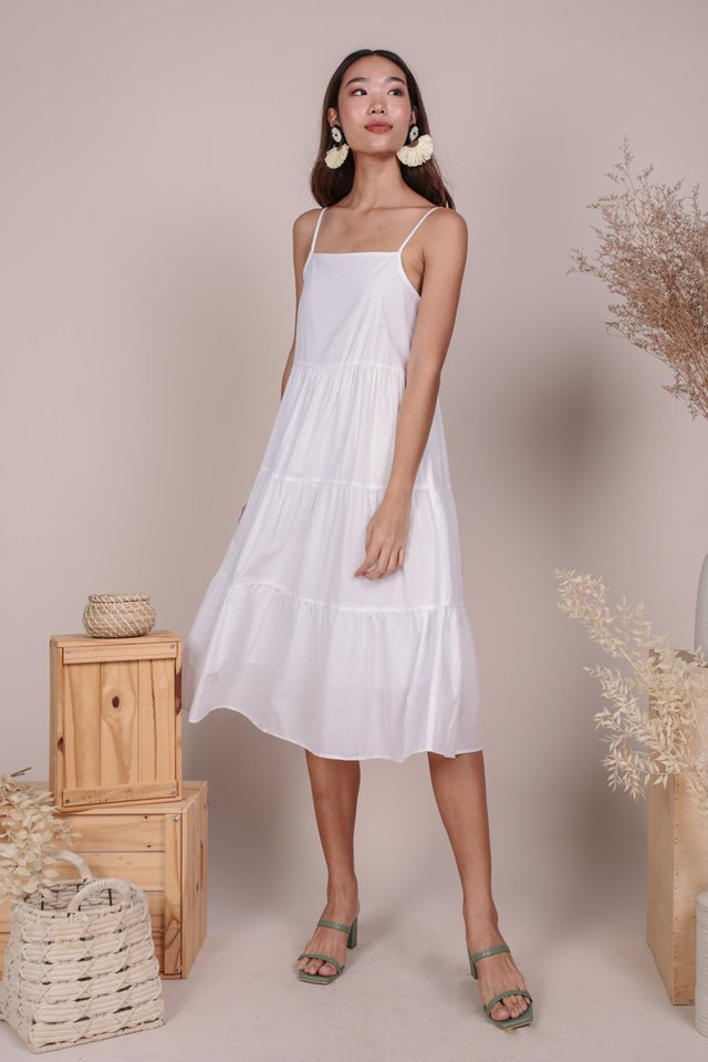 Meadows Tiered Maxi (White)