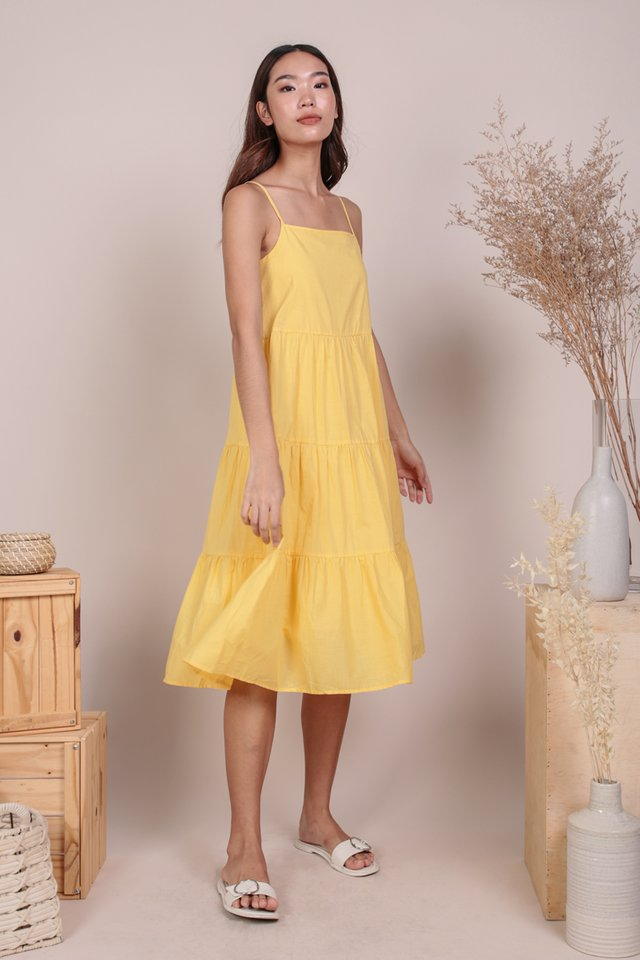 Meadows Tiered Maxi (Yellow)