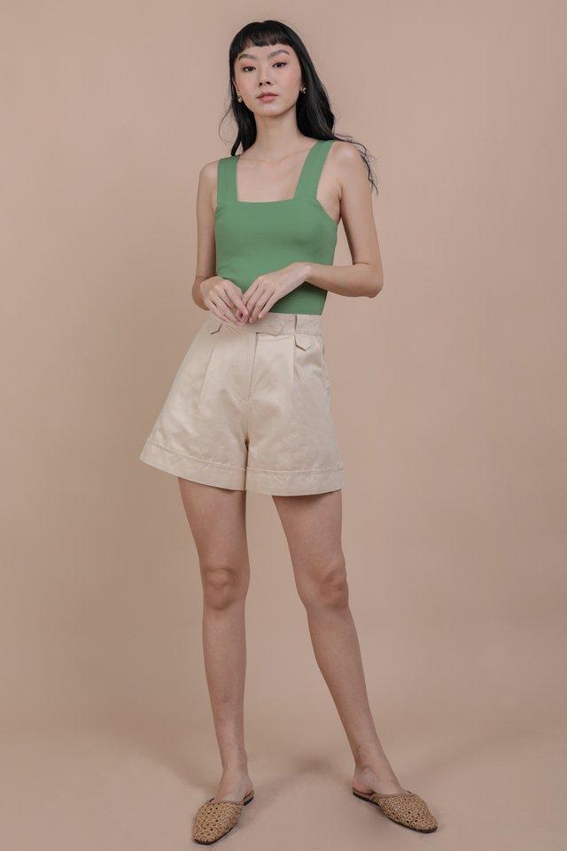 Luca Cuffed Shorts (Beige)