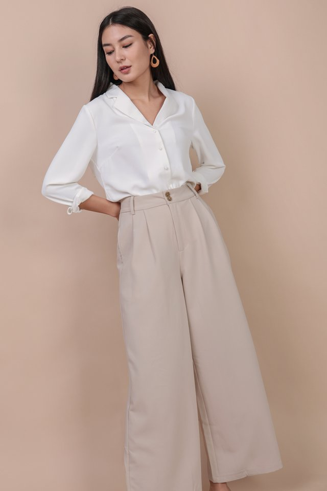 Casa Button Pants (Beige)