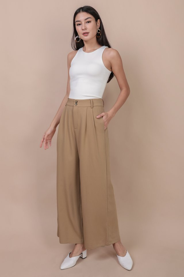 Casa Button Pants (Camel)