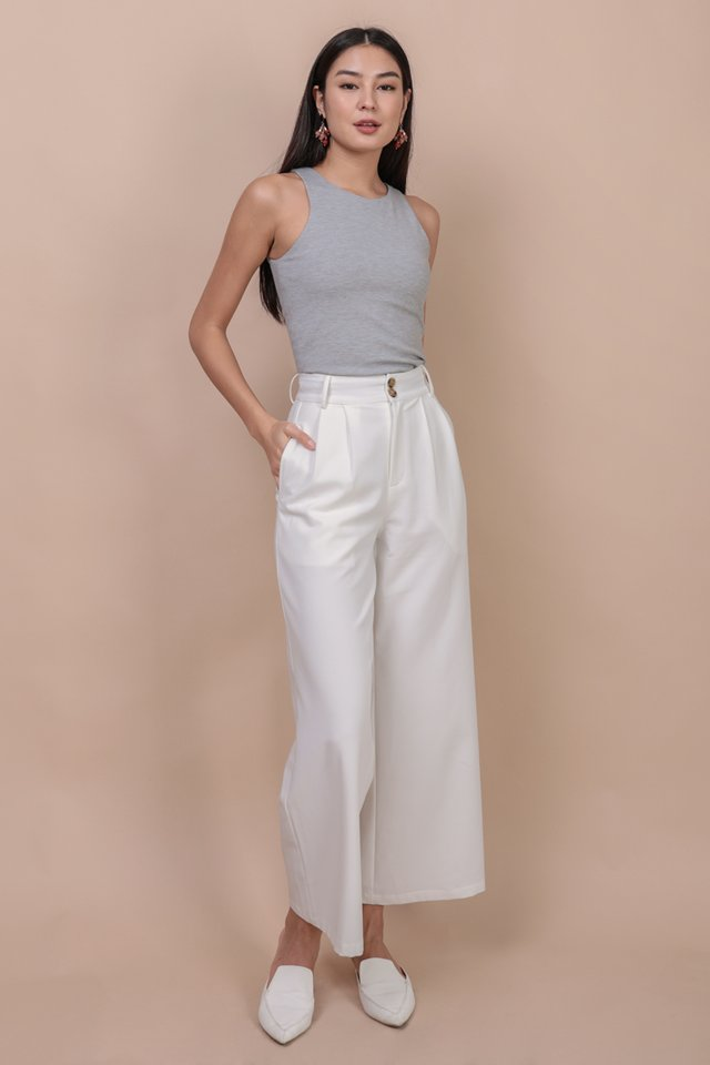 Casa Button Pants (White)