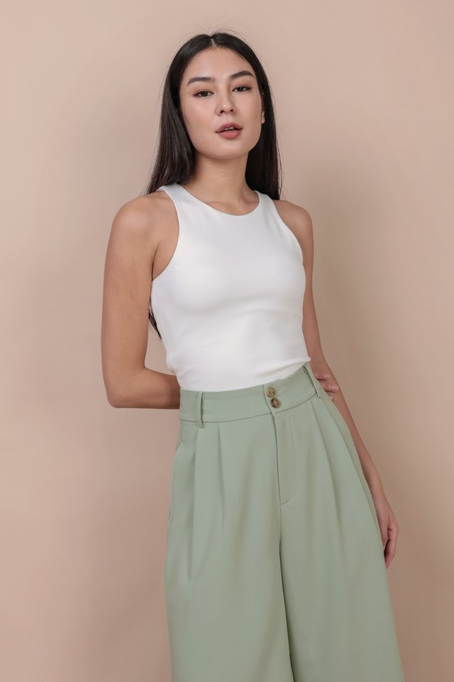 Demi Racercut Top (White)