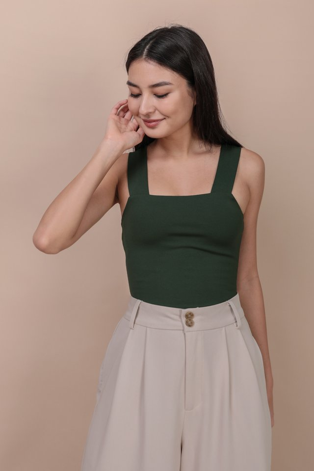 Luna Basic Top (Hunter Green)