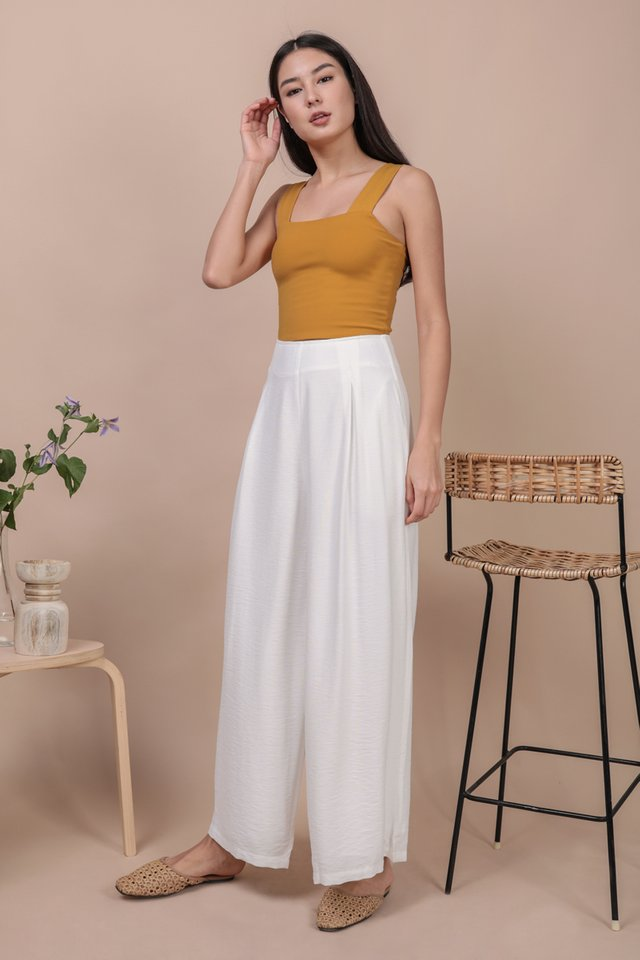 Alton Wide Leg Pants (White)