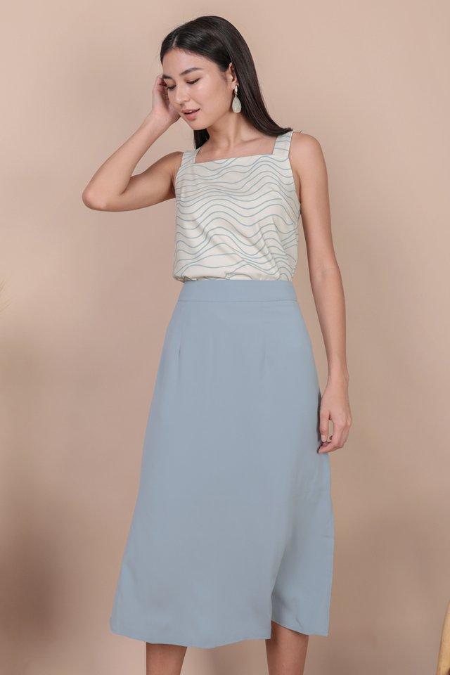 Issa Skirt (Dusty Blue)