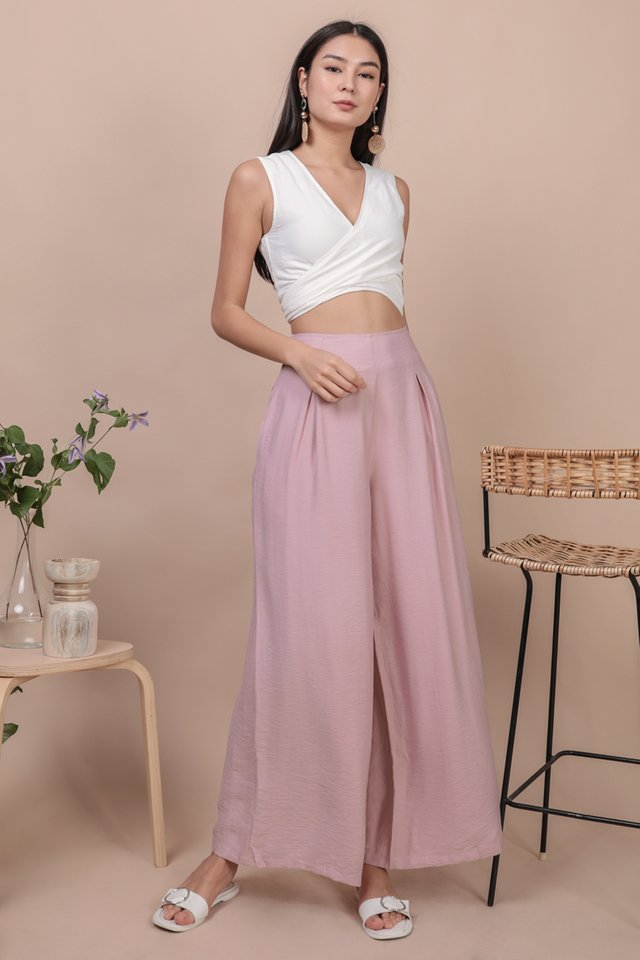 Alton Wide Leg Pants (Pink)