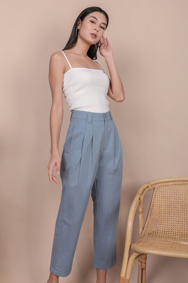 Rico Peg Leg Pants (Dusty Blue)