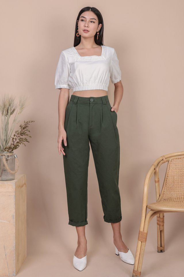 Rico Peg Leg Pants (Forest Green)