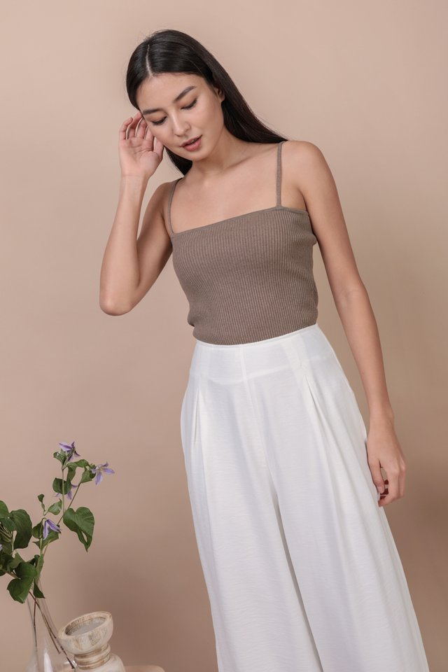 Sana Knit Spag Top (Taupe)