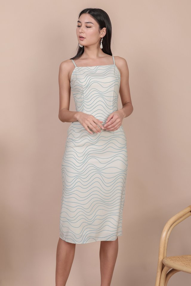 Swift Midi Dress (Waves)