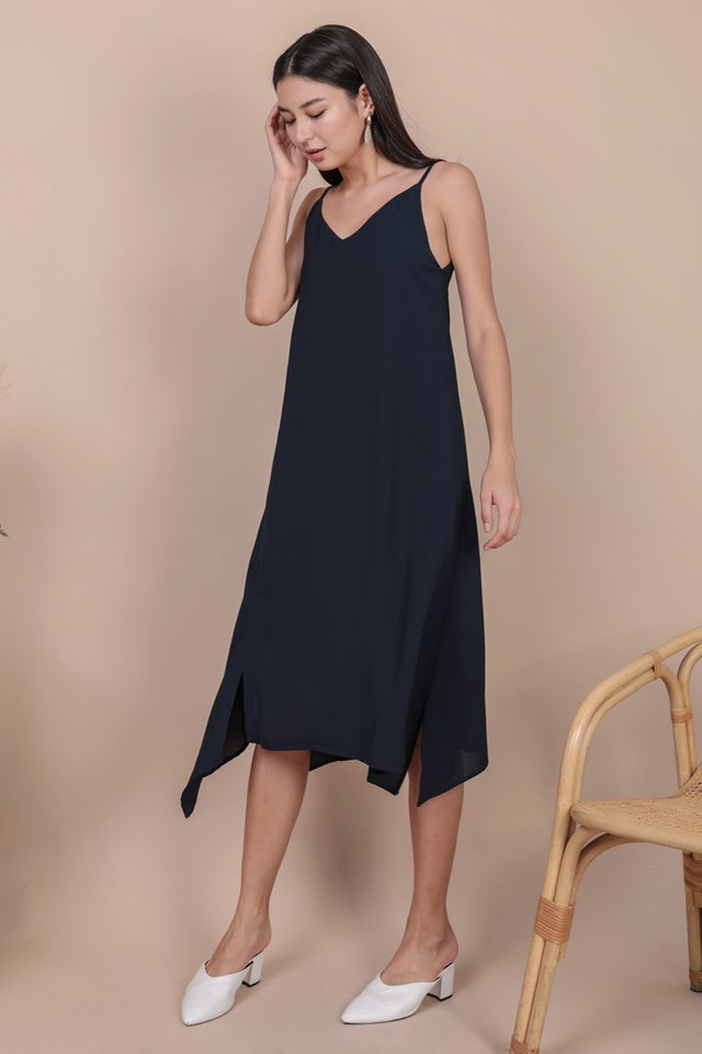 Tayla Slip Dress (Navy)