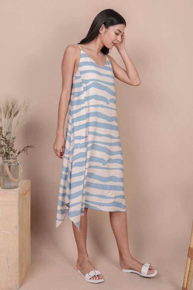 Tayla Slip Dress (Waves)