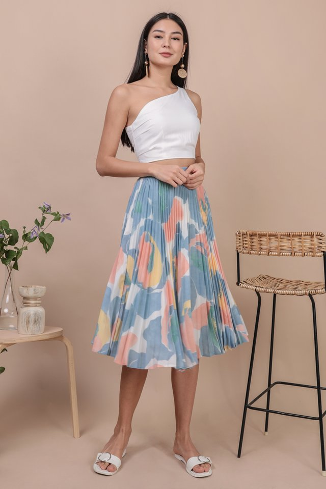 Courtney Pleated Midi Skirt (Blossom)