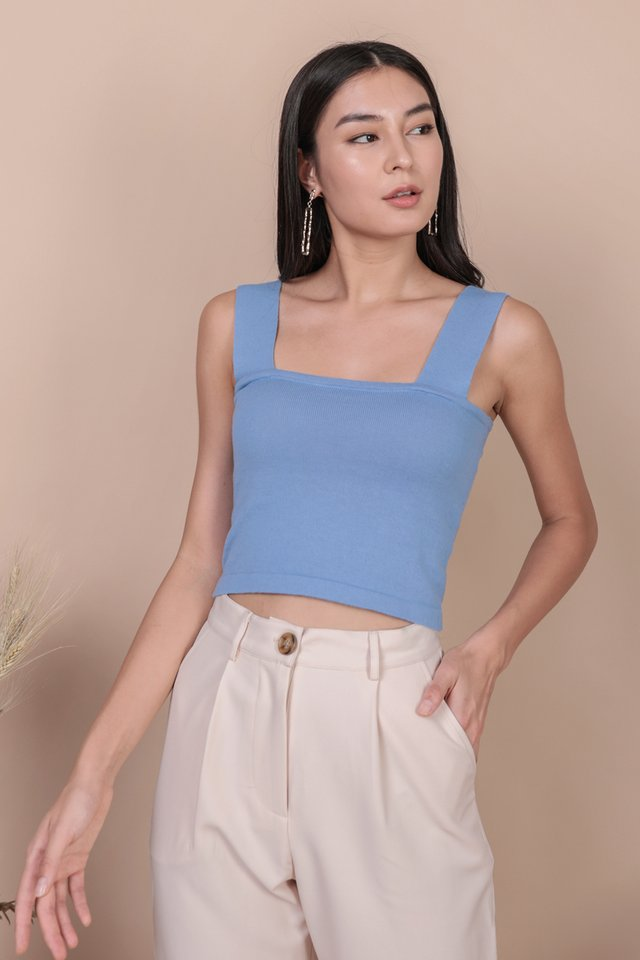 Harley Knit Top (Cornflower Blue)