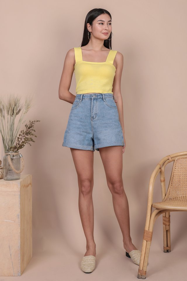 Harley Knit Top (Lemon)