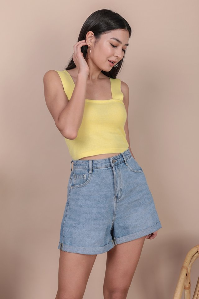 Harley Knit Top (Lemon)