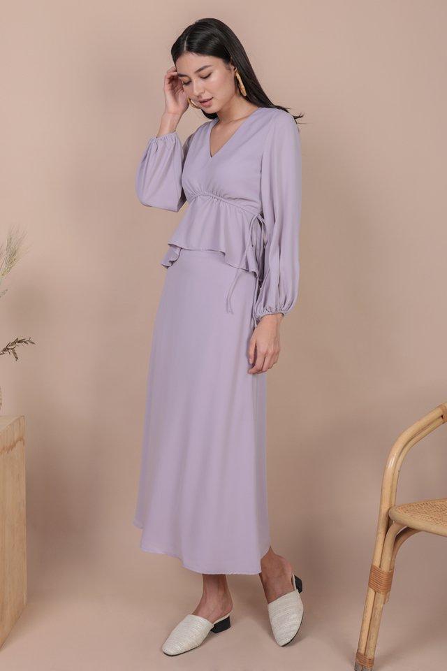 Langley Midi Skirt (Lilac)