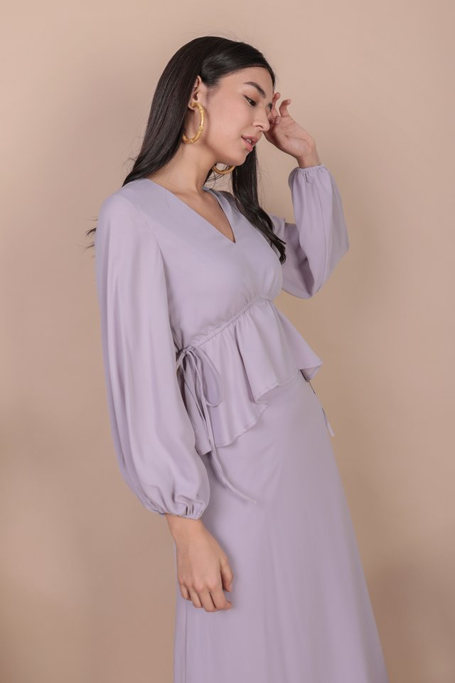 Melia Drawstring Top (Lilac)