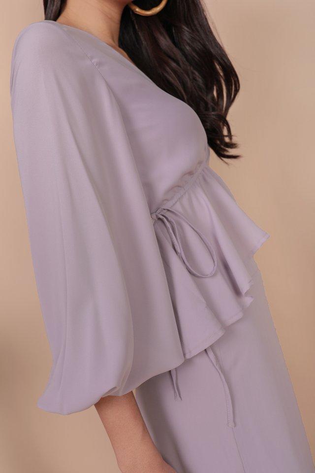 Melia Drawstring Top (Lilac)