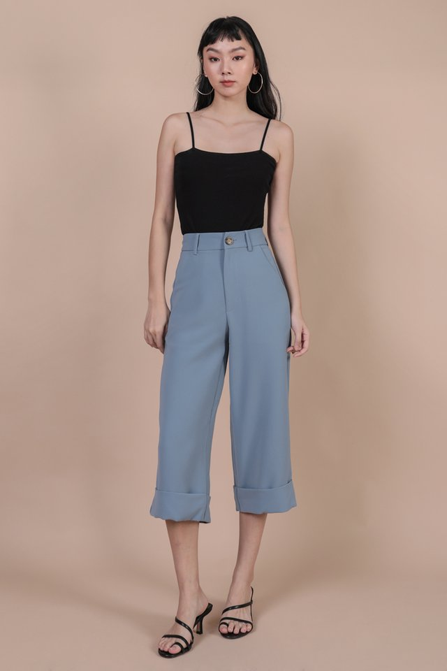 Baxter Cuffed Pants (Dusty Blue)