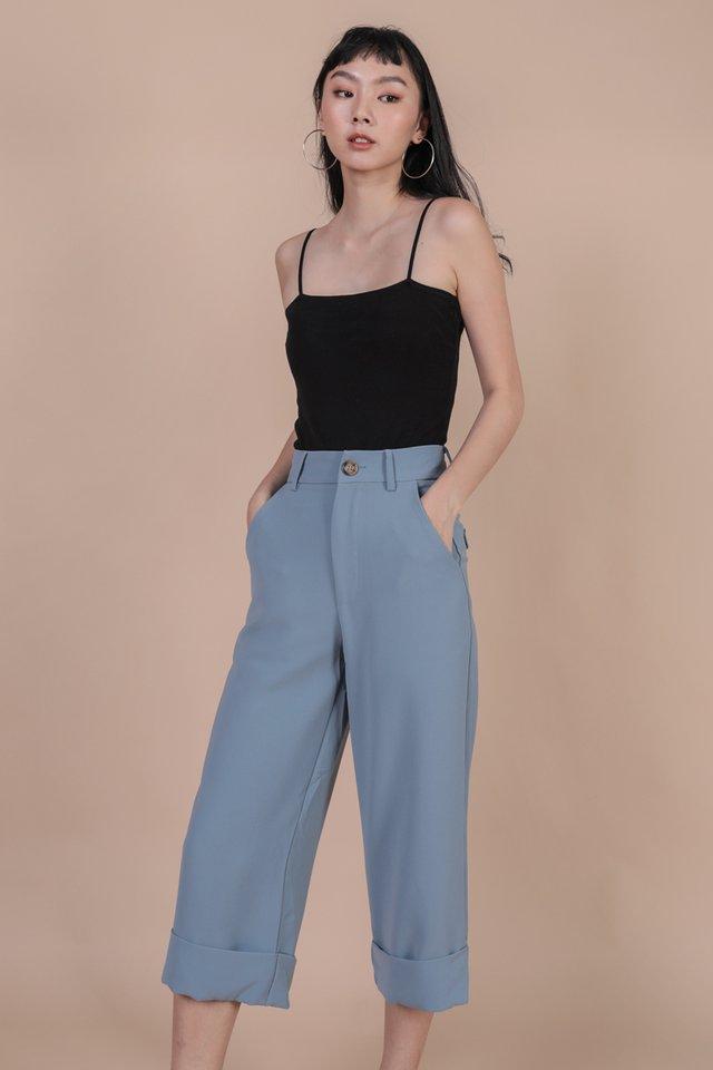 Baxter Cuffed Pants (Dusty Blue)