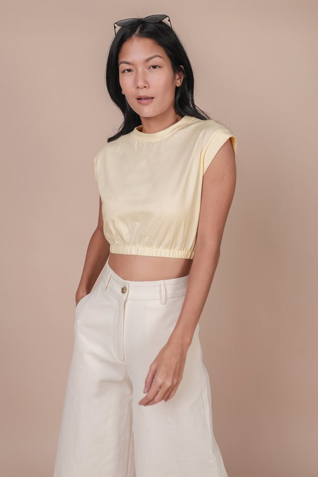 Leyla Cropped Top (Eggshell)