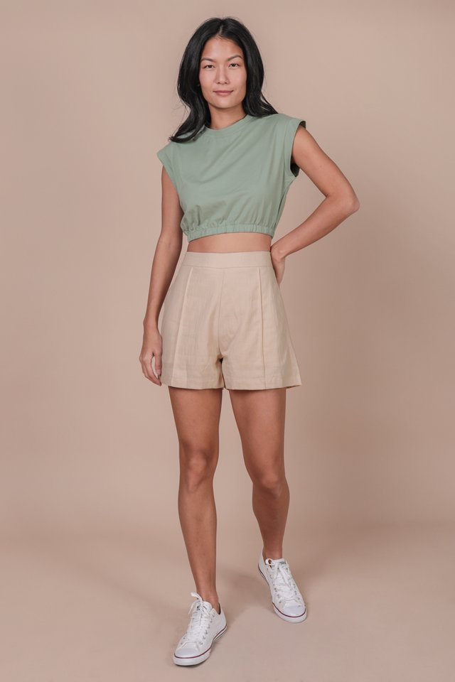 Leyla Cropped Top (Matcha)