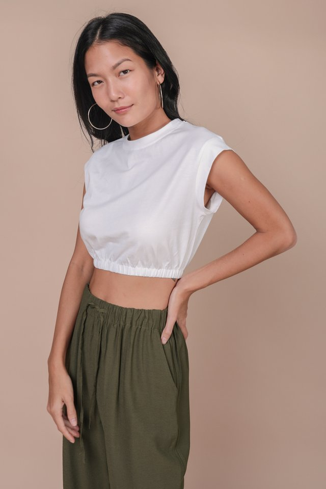 Leyla Cropped Top (White)