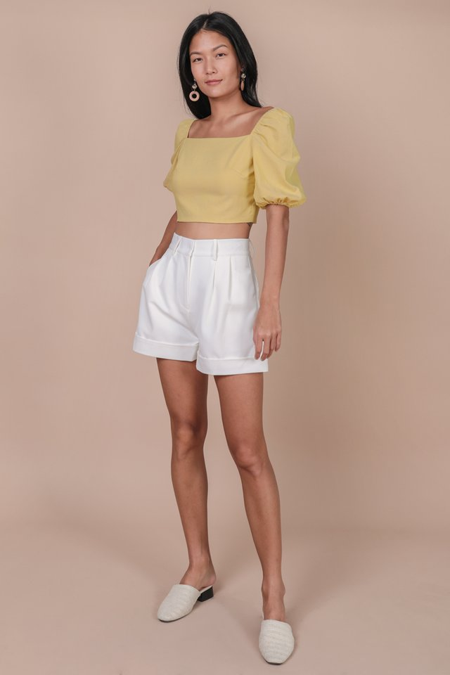Majorelle Puffy Sleeve Top (Lemon)