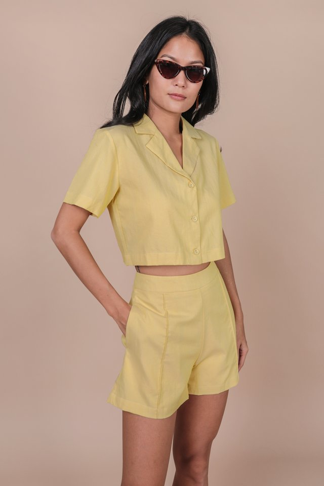 Parco Collared Top (Lemon)