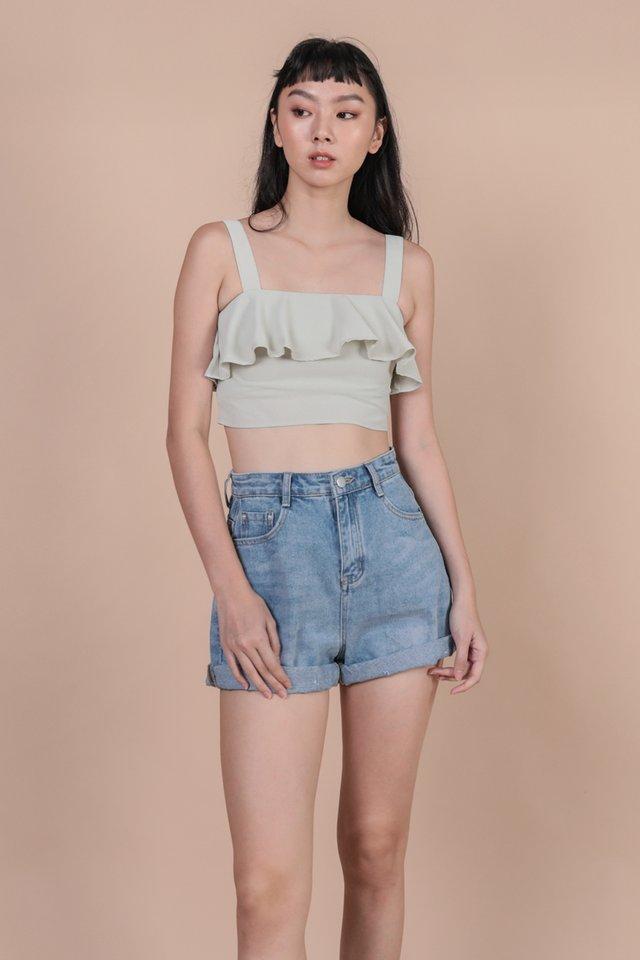 Reena Flutter Top (Light Mint)