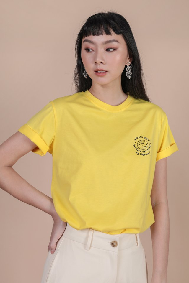 Better Than Abs Cookie Recipe Tee (Yellow)
