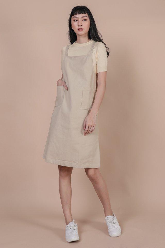 Todd Overalls Dress (Beige)