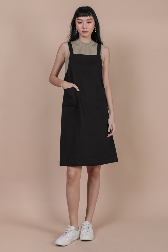 Todd Overalls Dress (Black)