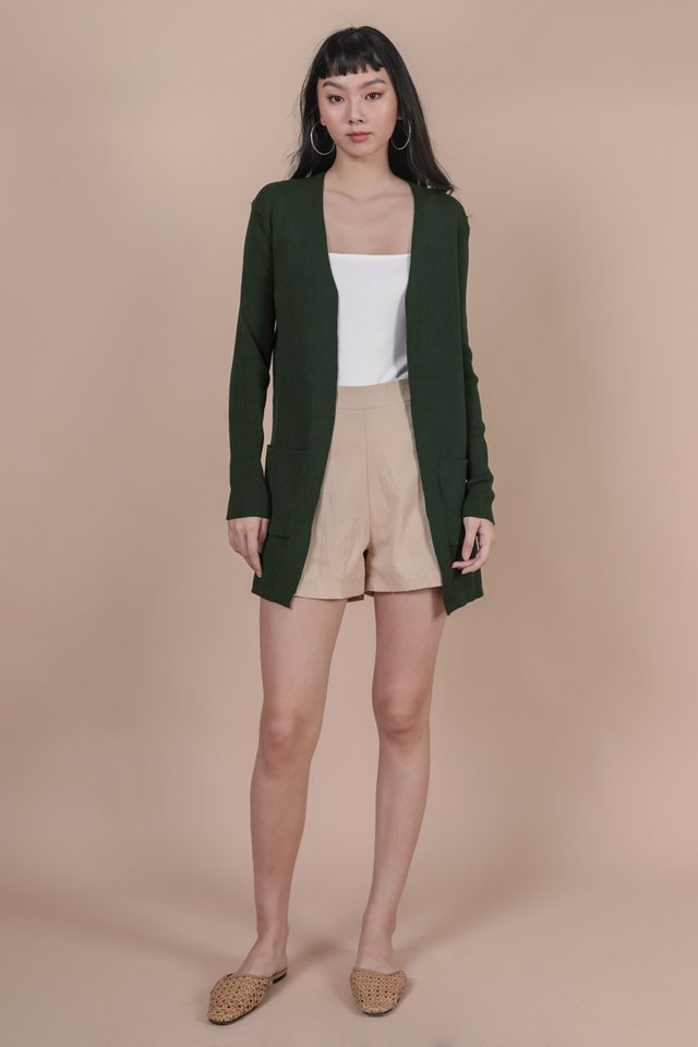 Bren Knit Cardigan (Forest Green)