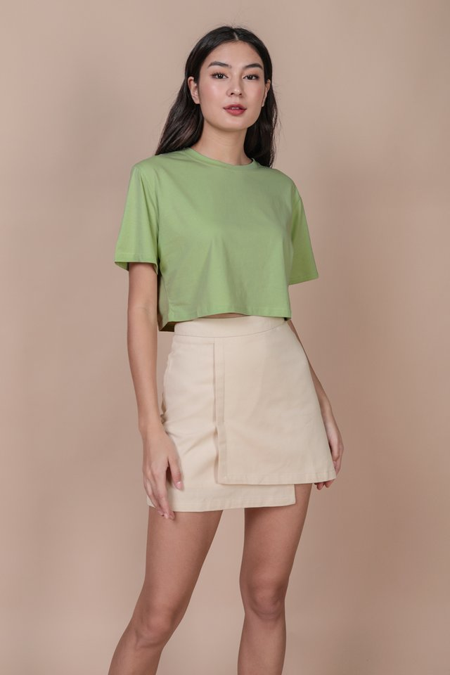 Meg Cropped Tee (Apple Green)