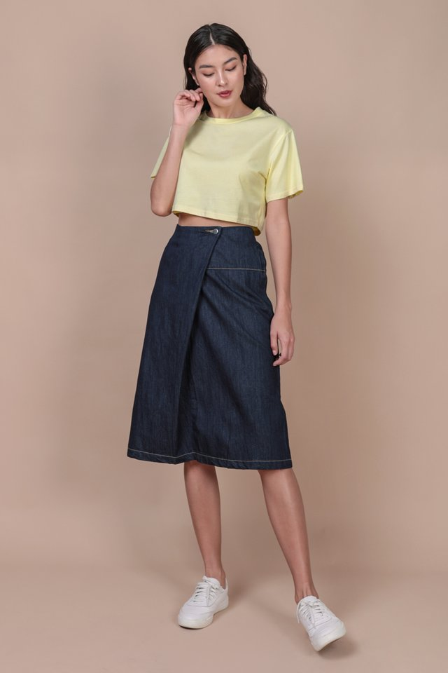 Meg Cropped Tee (Lemon)