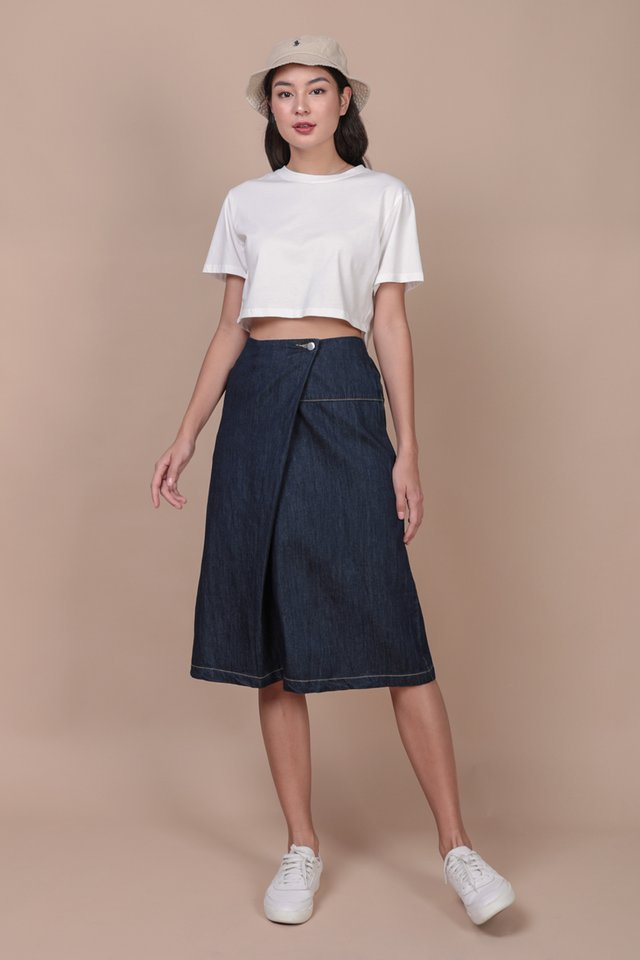 Meg Cropped Tee (White)
