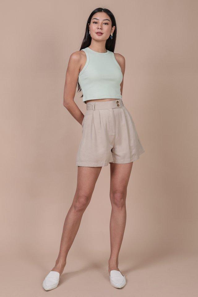 Oda Button Shorts (Nude)