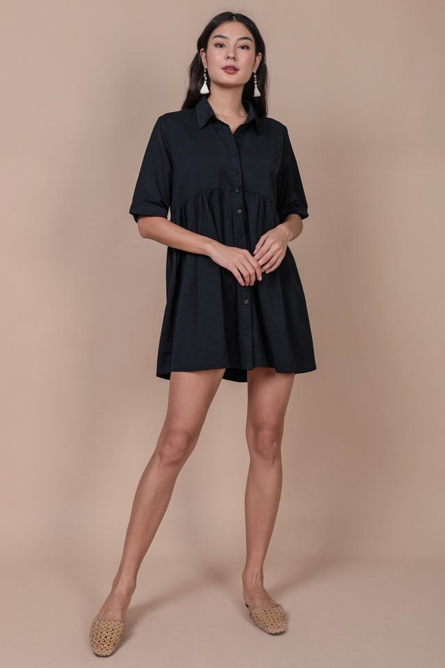 Perry Babydoll Dress (Navy)
