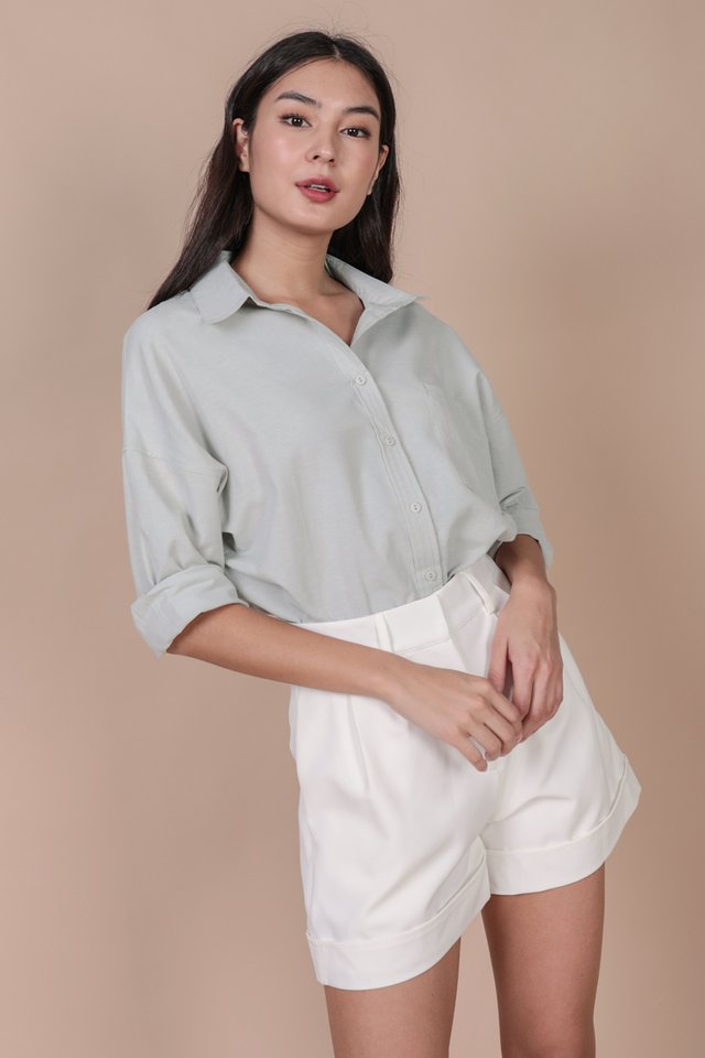 Sanford Boyfriend Shirt (Muted Sage)