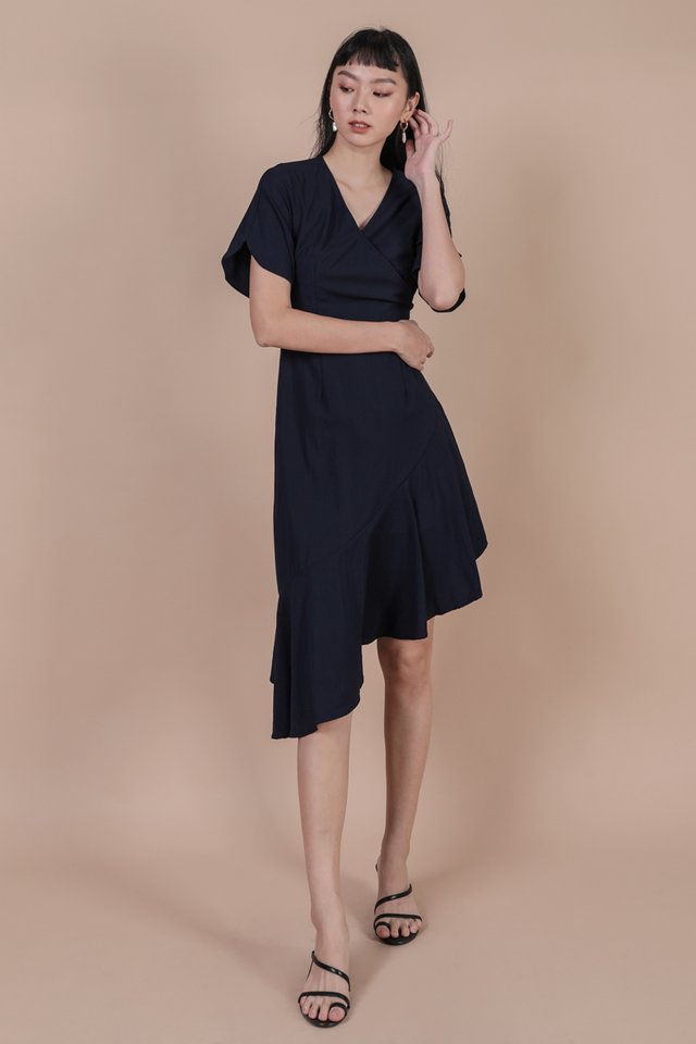 Santino Sleeve Dress (Navy)