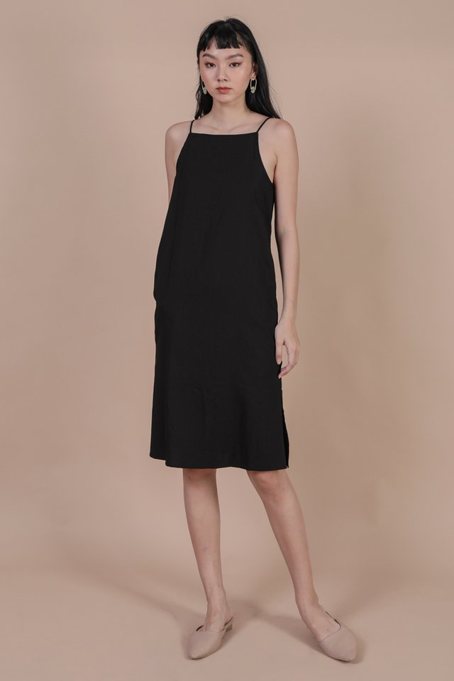 Stanley Midi Dress (Black)