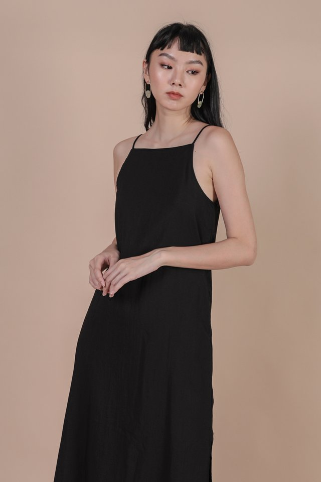 Stanley Midi Dress (Black)