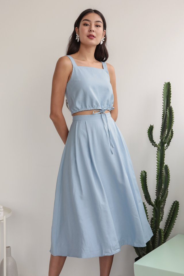 Anita Midi Skirt (Light Blue)