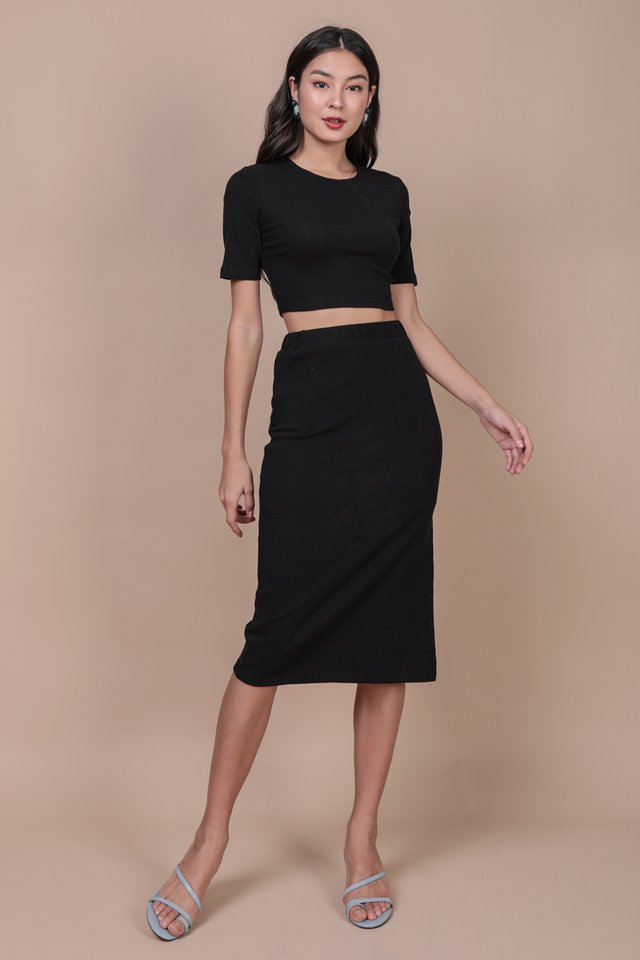 Eddie Sleeve Top (Black)