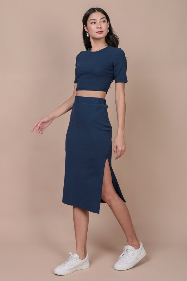 Eddie Sleeve Top (Marine Blue)
