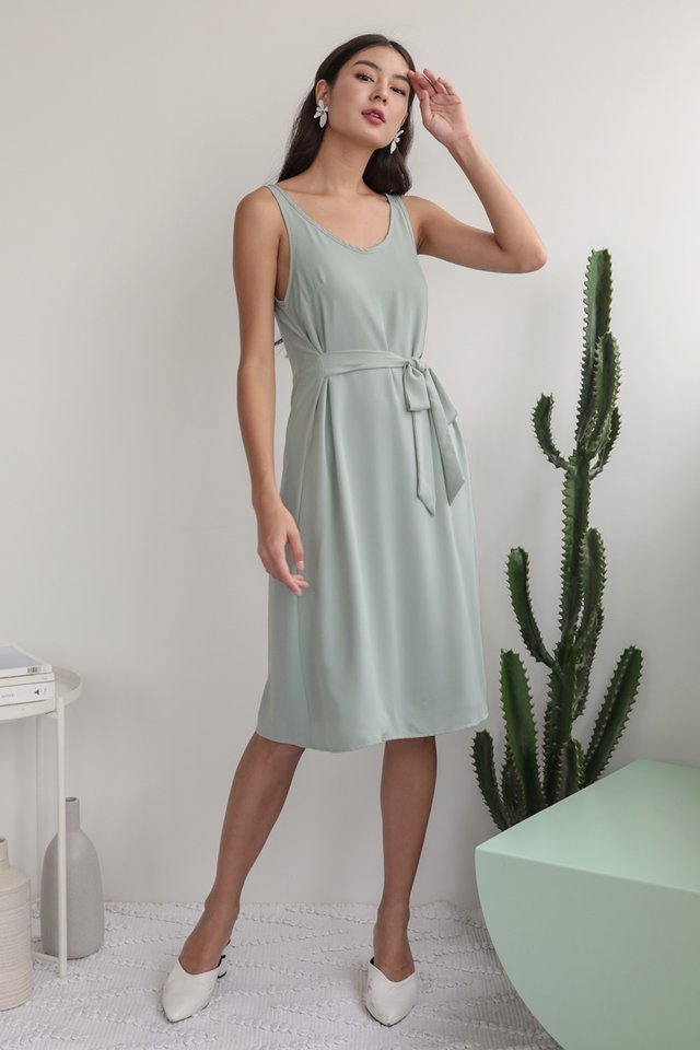 Glenda Midi Dress (Light Seafoam)